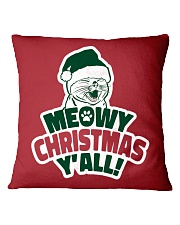 Meowy Christmas You All Square Pillowcase thumbnail