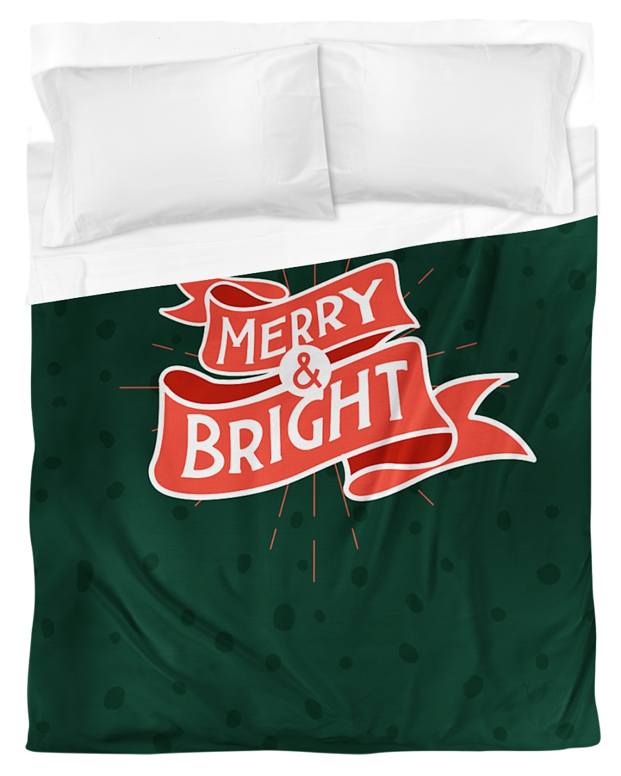 Merry And Bright Duvet Cover - Twin