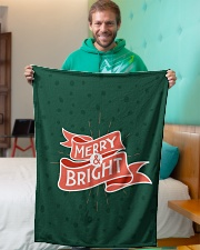 "Merry And Bright Small Fleece Blanket - 30"" x 40"" aos-coral-fleece-blanket-30x40-lifestyle-front-09"