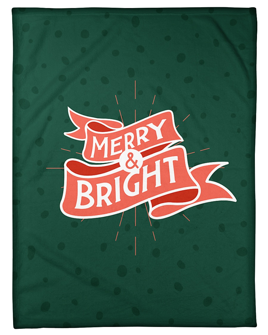 "Merry And Bright Small Fleece Blanket - 30"" x 40"""