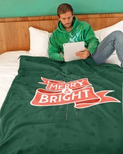 "Merry And Bright Large Fleece Blanket - 60"" x 80"" aos-coral-fleece-blanket-60x80-lifestyle-front-06"