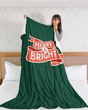"Merry And Bright Large Fleece Blanket - 60"" x 80"" aos-coral-fleece-blanket-60x80-lifestyle-front-11"