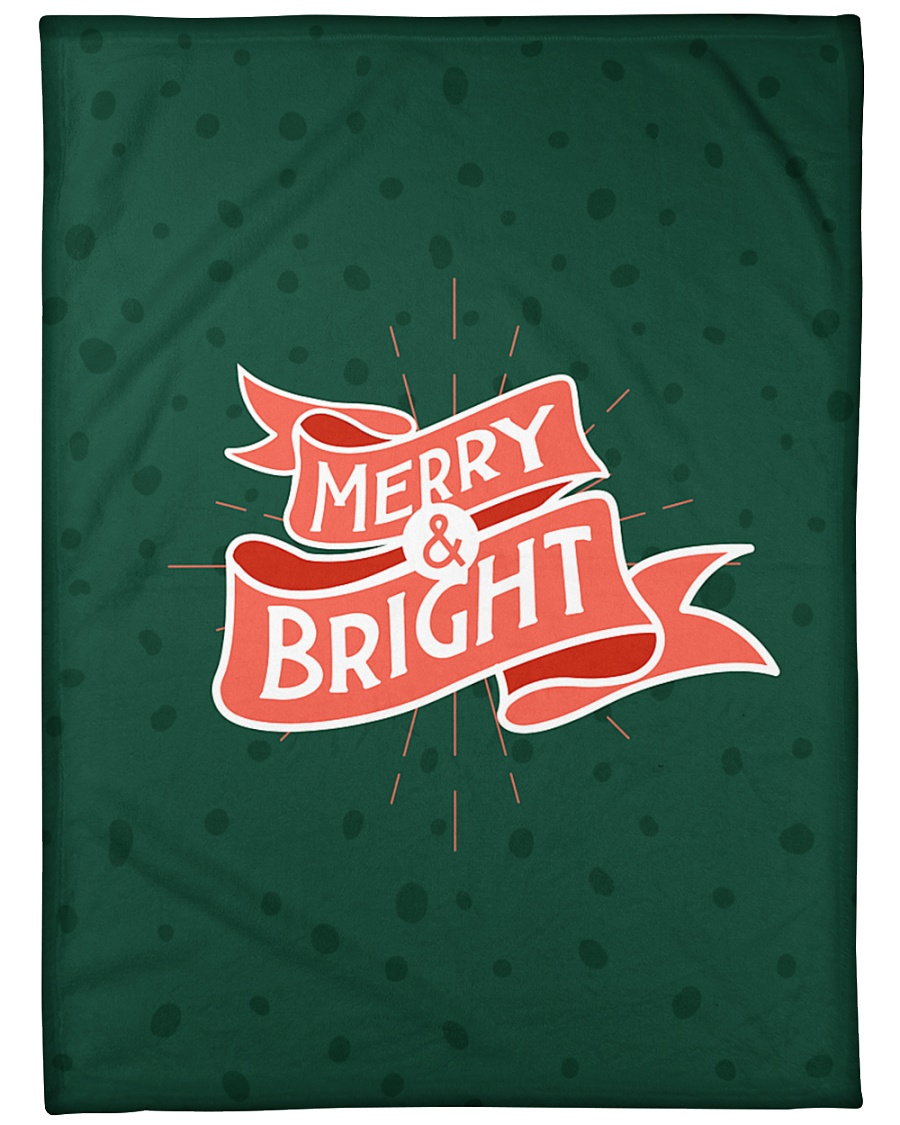 "Merry And Bright Large Fleece Blanket - 60"" x 80"""