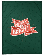 "Merry And Bright Large Fleece Blanket - 60"" x 80"" front"