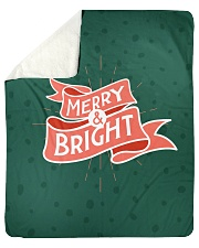 "Merry And Bright Sherpa Fleece Blanket - 50"" x 60"" front"