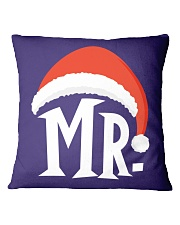 Mr Christmas Hat Square Pillowcase thumbnail