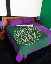 "Jingle All The Way Large Fleece Blanket - 60"" x 80"" aos-coral-fleece-blanket-60x80-lifestyle-front-01"