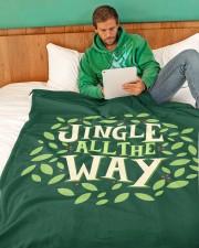 "Jingle All The Way Large Fleece Blanket - 60"" x 80"" aos-coral-fleece-blanket-60x80-lifestyle-front-06"