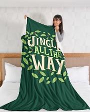 "Jingle All The Way Large Fleece Blanket - 60"" x 80"" aos-coral-fleece-blanket-60x80-lifestyle-front-11"