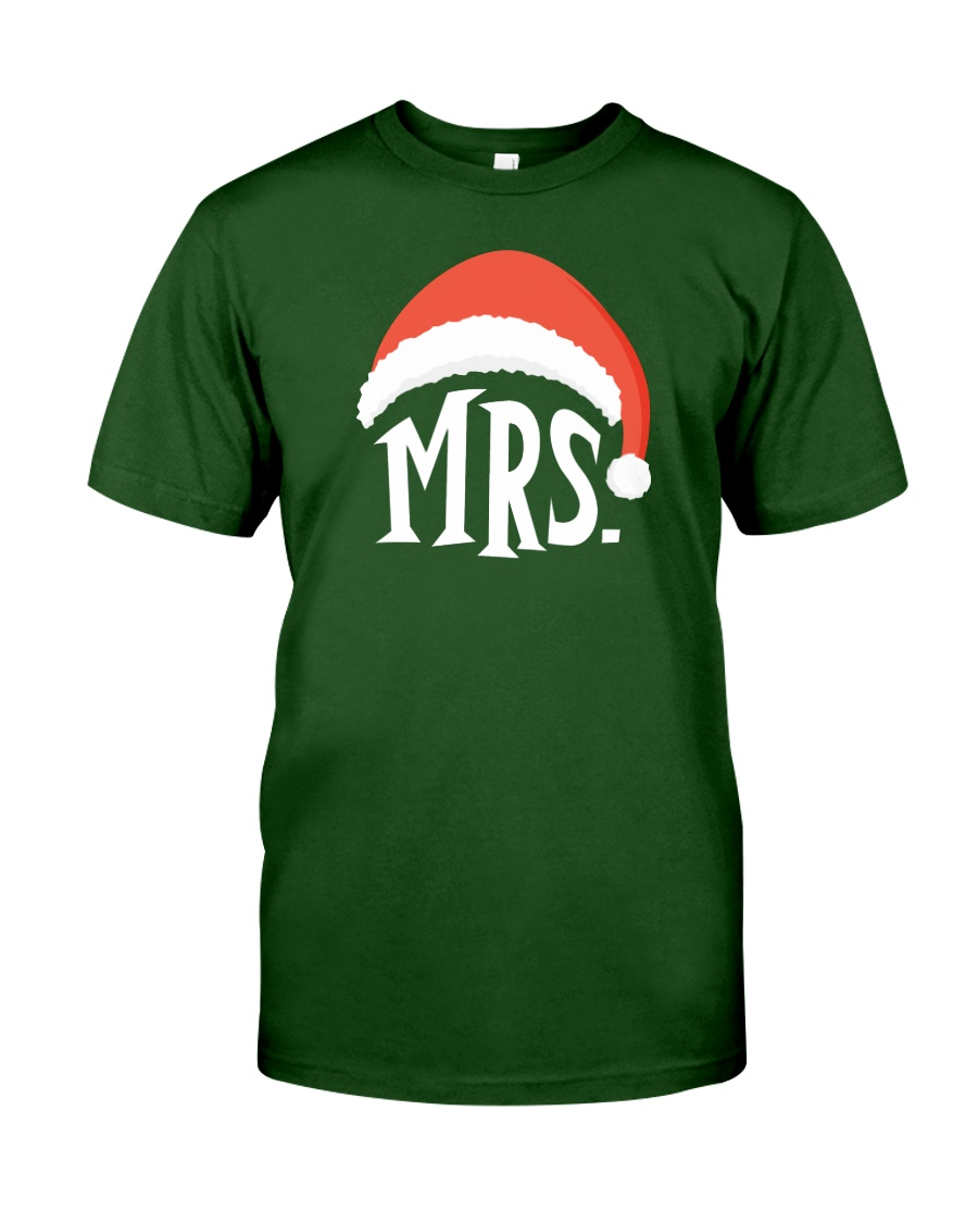 Mrs Christmas Hat Classic T-Shirt