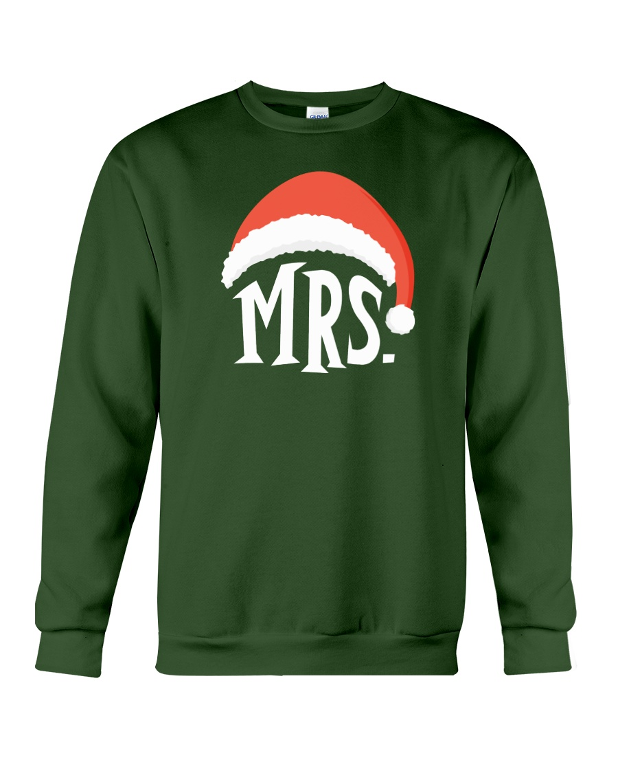 Mrs Christmas Hat Crewneck Sweatshirt