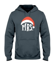 Mrs Christmas Hat Hooded Sweatshirt thumbnail