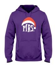 Mrs Christmas Hat Hooded Sweatshirt front