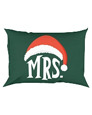 Mrs Christmas Hat Rectangular Pillowcase thumbnail
