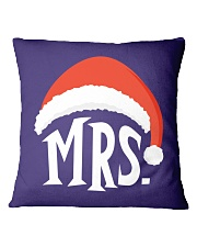 Mrs Christmas Hat Square Pillowcase thumbnail