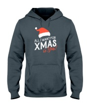 All I Want For Xmas Is You Hooded Sweatshirt front