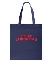 Merry Christmas Retro Tote Bag back