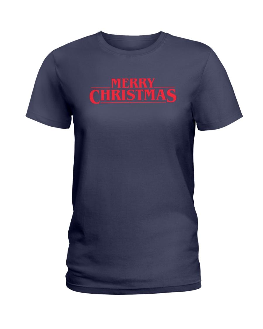 Merry Christmas Retro Ladies T-Shirt