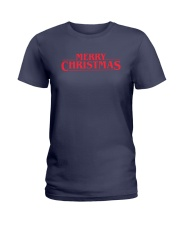 Merry Christmas Retro Ladies T-Shirt thumbnail