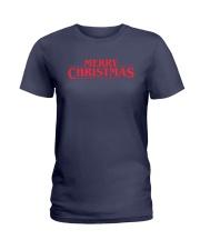 Merry Christmas Retro Ladies T-Shirt front