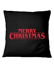 Merry Christmas Retro Square Pillowcase tile