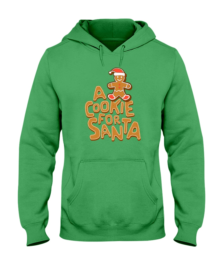A Cookie For Santa Hooded Sweatshirt