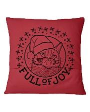Full Of Joy Square Pillowcase back