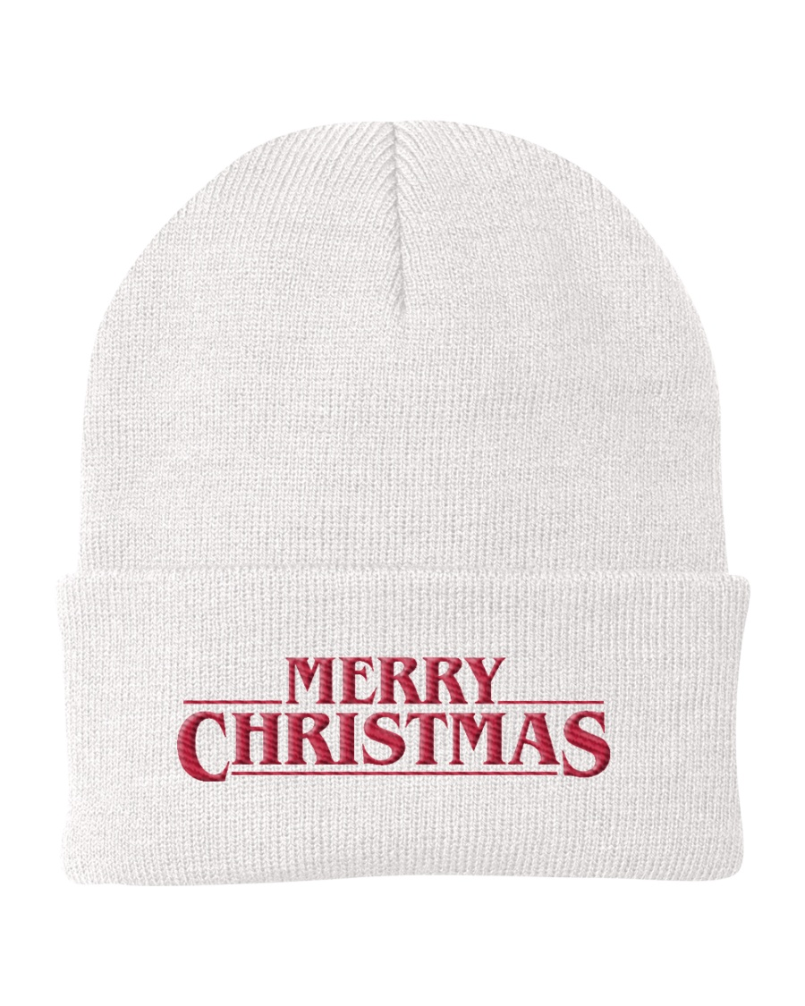 Merry Christmas Title Knit Beanie
