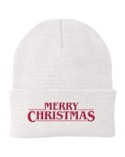 Merry Christmas Title Knit Beanie front