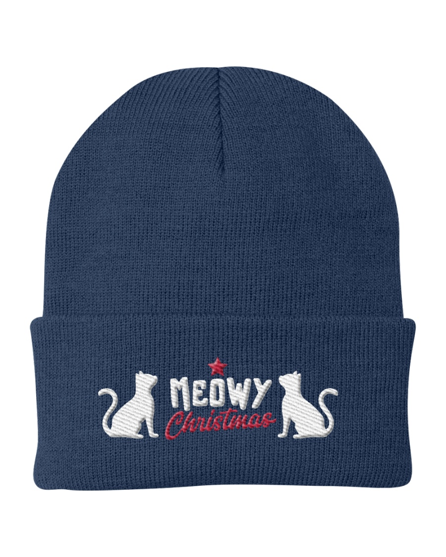 Meowy Christmas Eve Knit Beanie
