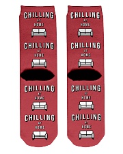 Chilling at Home - Red Version Crew Length Socks back