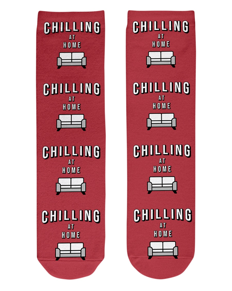 Chilling at Home - Red Version Crew Length Socks