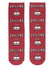 Chilling at Home - Red Version Crew Length Socks front