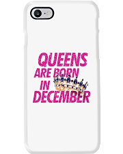 Queens Are Born in December Phone Case tile