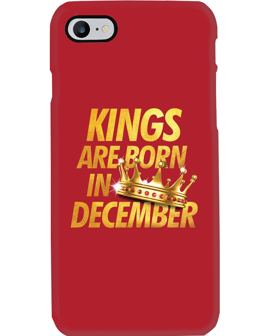 Kings Are Born in December Phone Case