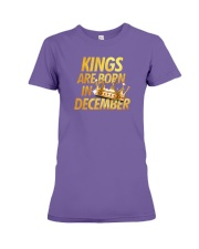 Kings Are Born in December Premium Fit Ladies Tee front