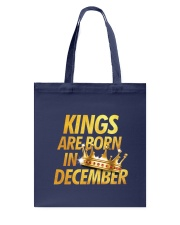 Kings Are Born in December Tote Bag back