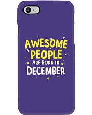 Awesome People Are Born In December Phone Case thumbnail