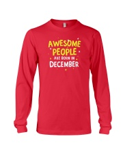 Awesome People Are Born In December Long Sleeve Tee thumbnail