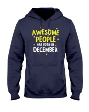 Awesome People Are Born In December Hooded Sweatshirt thumbnail