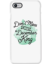 Don't Mess With a December King Phone Case thumbnail