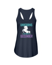 Unicorns Are Born in December Ladies Flowy Tank tile