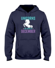 Unicorns Are Born in December Hooded Sweatshirt thumbnail