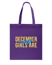 December Girls are Crazy Tote Bag thumbnail