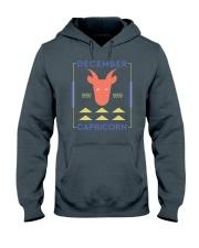 December Capricorn Hooded Sweatshirt thumbnail