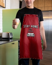Stay Home and Chill - Red Version Apron aos-apron-27x30-lifestyle-front-04