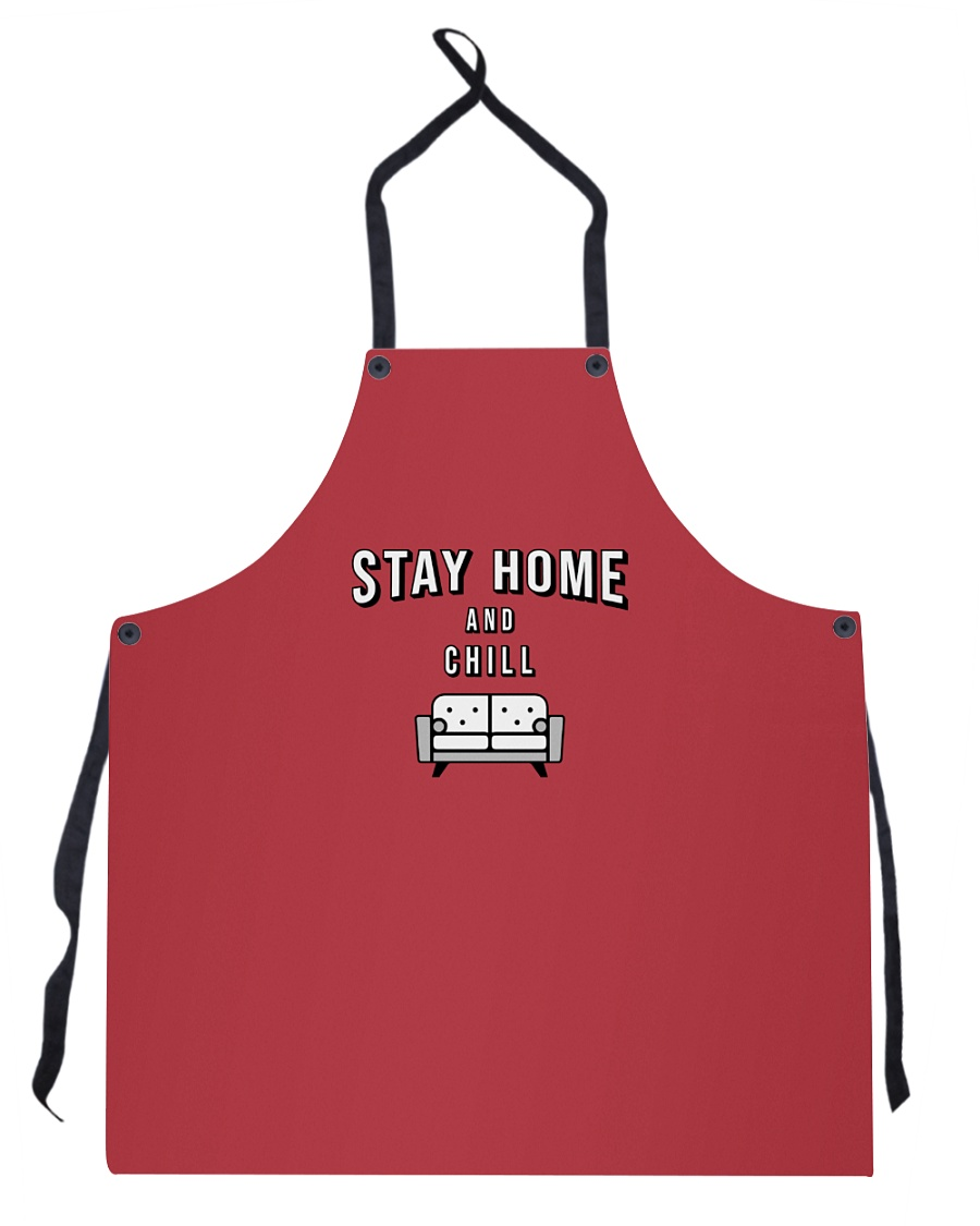 Stay Home and Chill - Red Version Apron