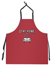 Stay Home and Chill - Red Version Apron front