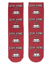 Stay Home and Chill - Red Version Crew Length Socks thumbnail