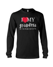 I Love My Grandma - Yes She Bought This For Me Long Sleeve Tee thumbnail